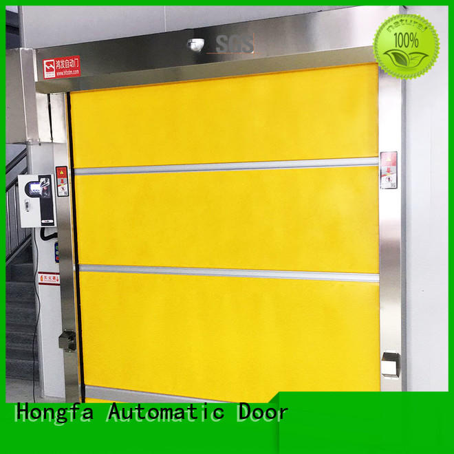 Hongfa professional automatic roll up door fabric for factory