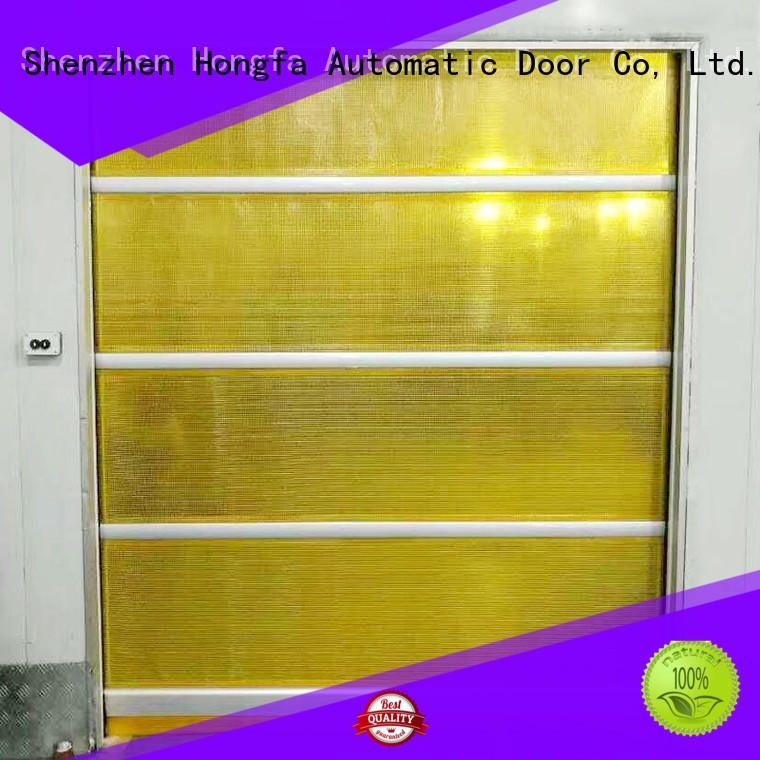 Hongfa plastic PVC fast door in china for warehousing