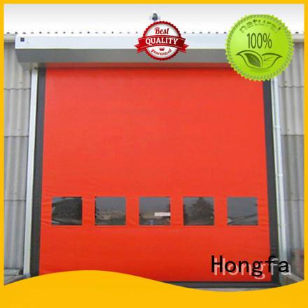 Hongfa speed zipper door for-sale for warehousing
