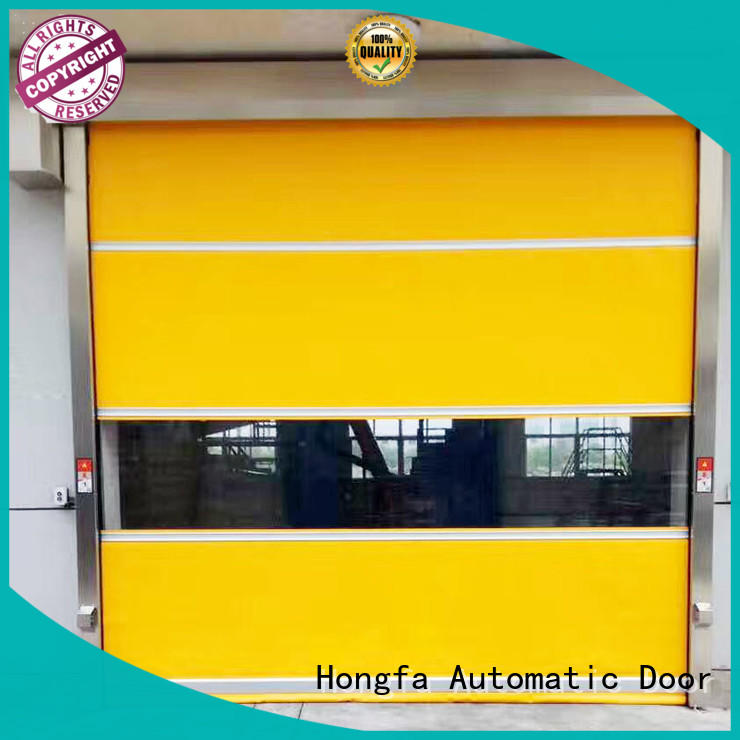 Hongfa interior roll up doors interior overseas market for food chemistry textile electronics supemarket refrigeration logistics