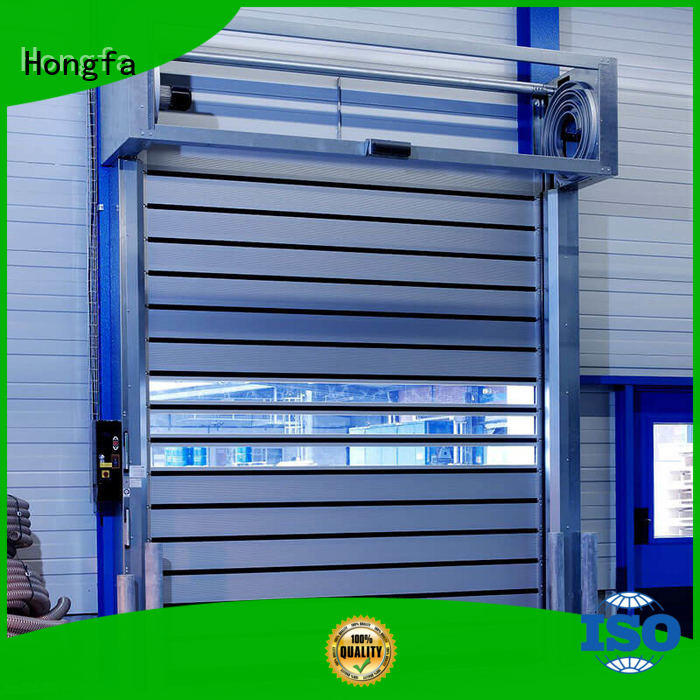 fast spiral door in different color for cold room Hongfa