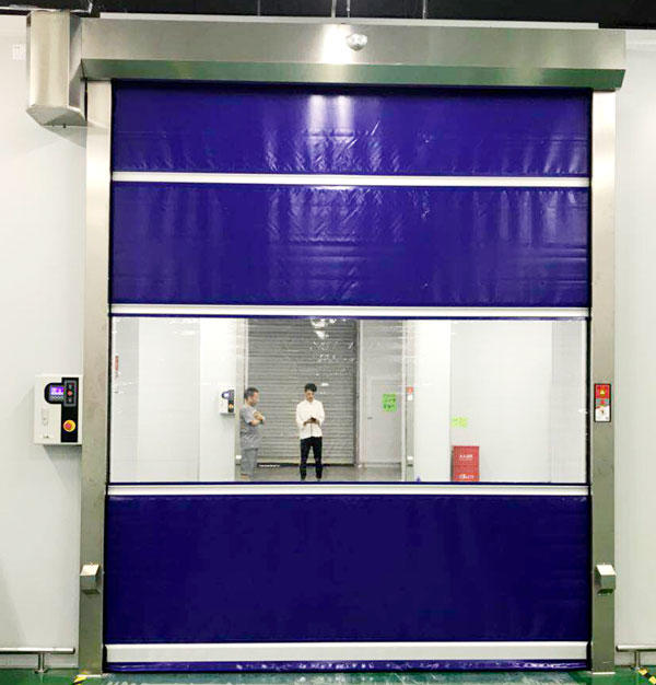 clear roll up high speed door overseas market for factory Hongfa-3