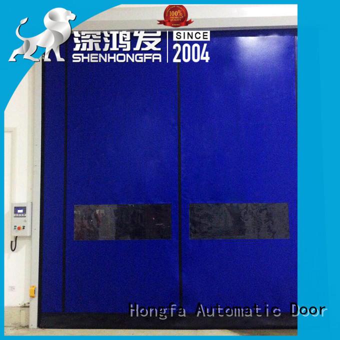 Hongfa selfrepairing zipper door for warehousing
