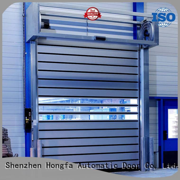 Hongfa door spiral fast door types for parking lot