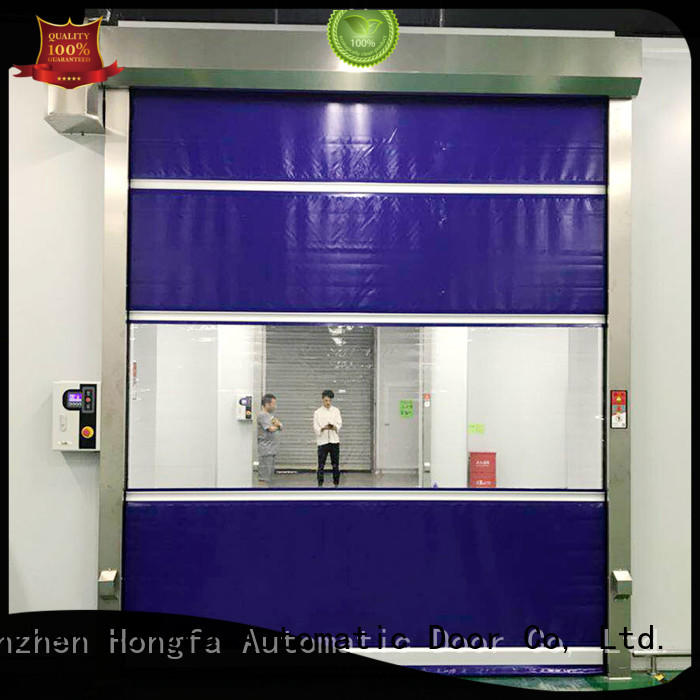 Hongfa curtain roll up doors interior newly for food chemistry textile electronics supemarket refrigeration logistics
