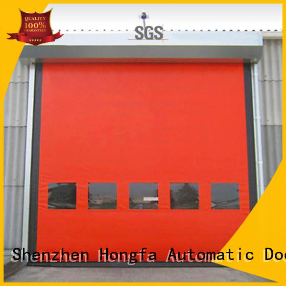 industrial custom roll up doors high speed Hongfa company