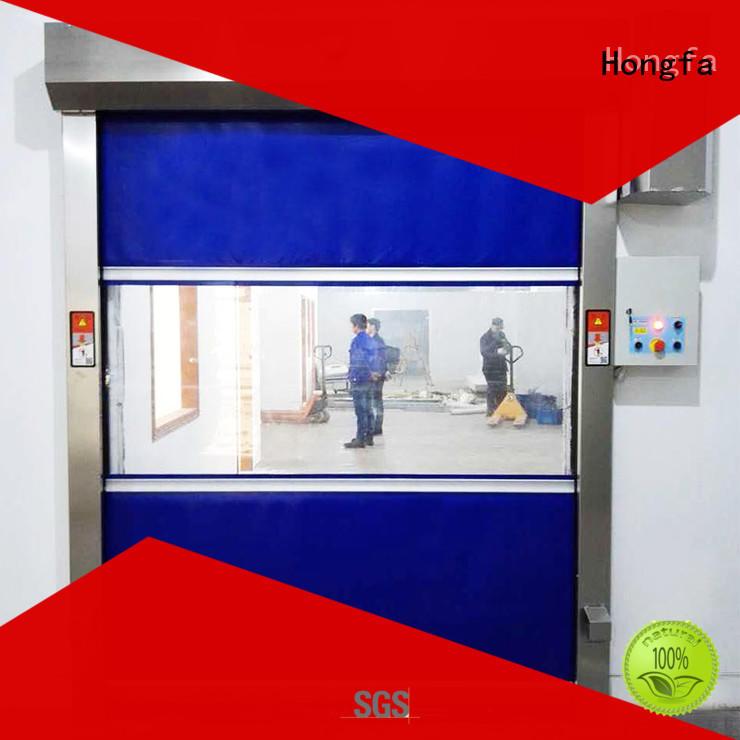 Hongfa safe roll up high speed door supplier for storage