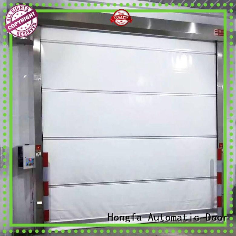 Hongfa efficient fabric roll up doors overseas market for food chemistry textile electronics supemarket refrigeration logistics