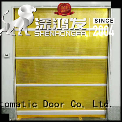 clear roll up doors interior interior for food chemistry textile electronics supemarket refrigeration logistics Hongfa