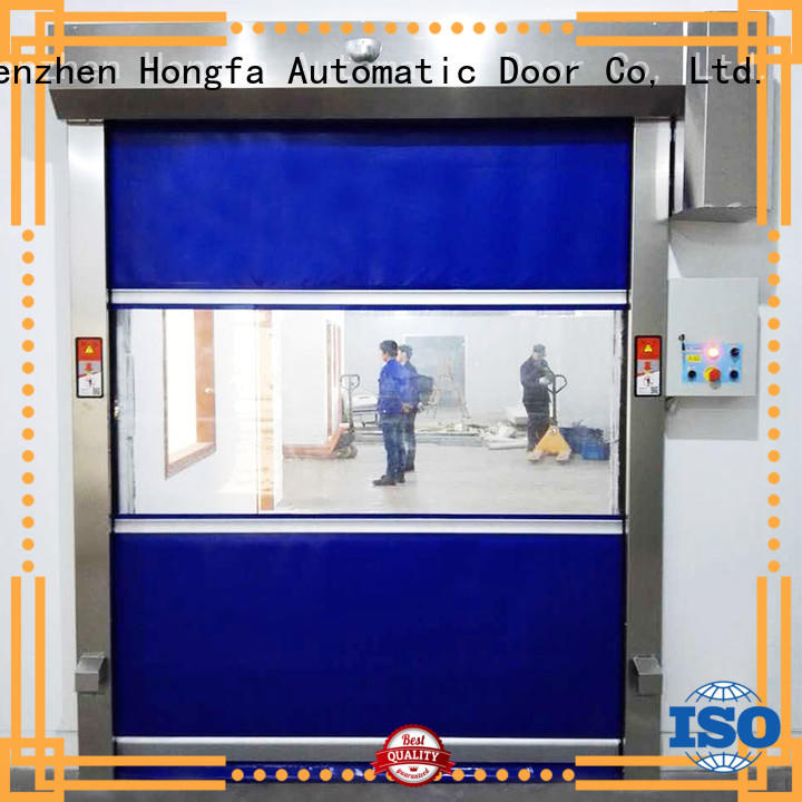 Hongfa automatic roll up doors interior in different color for factory