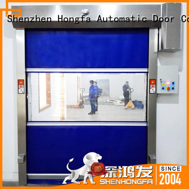Hongfa performance high speed shutter door marketing for food chemistry textile electronics supemarket refrigeration logistics