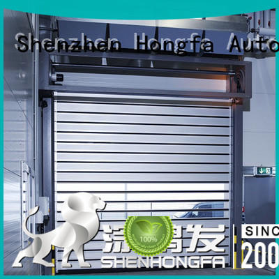 aluminum security industrial fast door security for industrial warehouse Hongfa