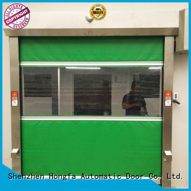Hongfa efficient rapid roll up door marketing for supermarket