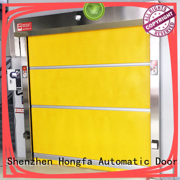 rapid pvc high speed door door for supermarket Hongfa