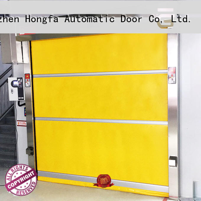 Hongfa automatic pvc high speed door widely-use for warehousing