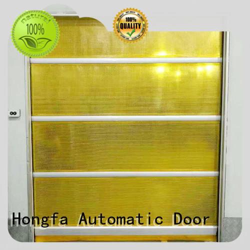 Hongfa high speed shutter door overseas market for factory