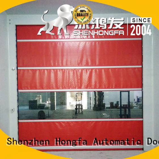Hongfa high-tech automatic roll up door in different color for factory