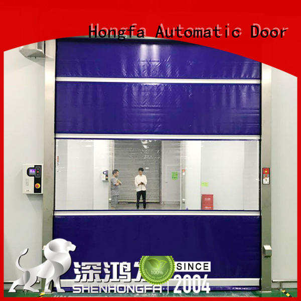 Hongfa professional high speed shutter door in different color for supermarket