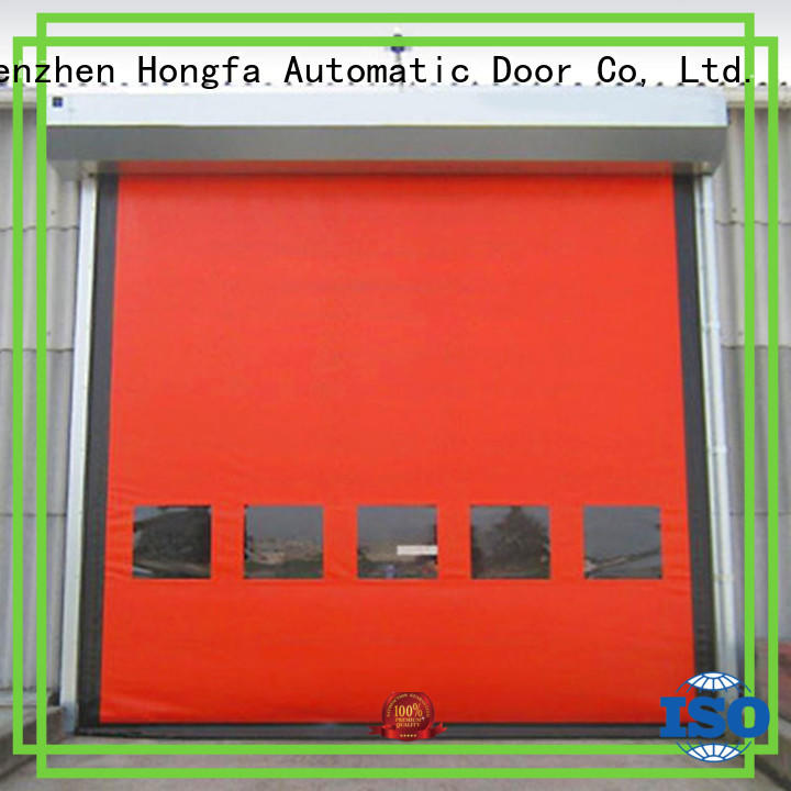 Hongfa speed custom roll up doors effectively for cold storage room