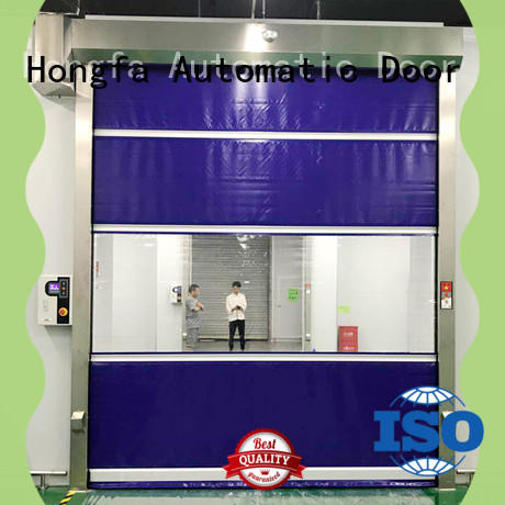 Hongfa pvc rapid roll up door overseas market for storage