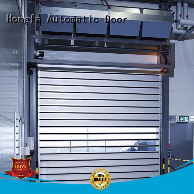 Hongfa speed spiral fast door types for industrial warehouse
