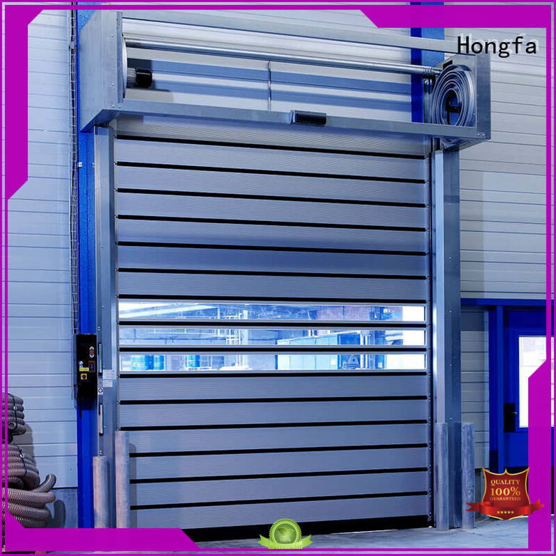 Hongfa fashion design electric roll up door from china for industrial warehouse