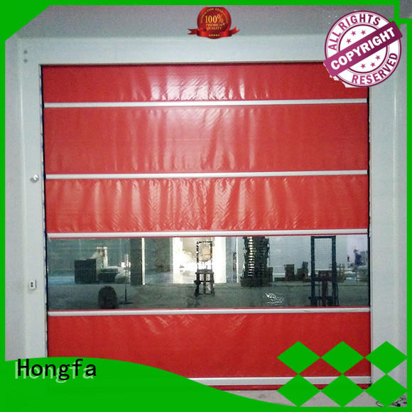 fabric high speed shutter door flexible for warehousing Hongfa