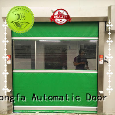 high speed shutter door interior for food chemistry textile electronics supemarket refrigeration logistics Hongfa