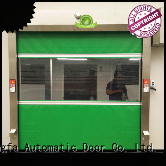 professional roll up doors interior in different color for food chemistry textile electronics supemarket refrigeration logistics
