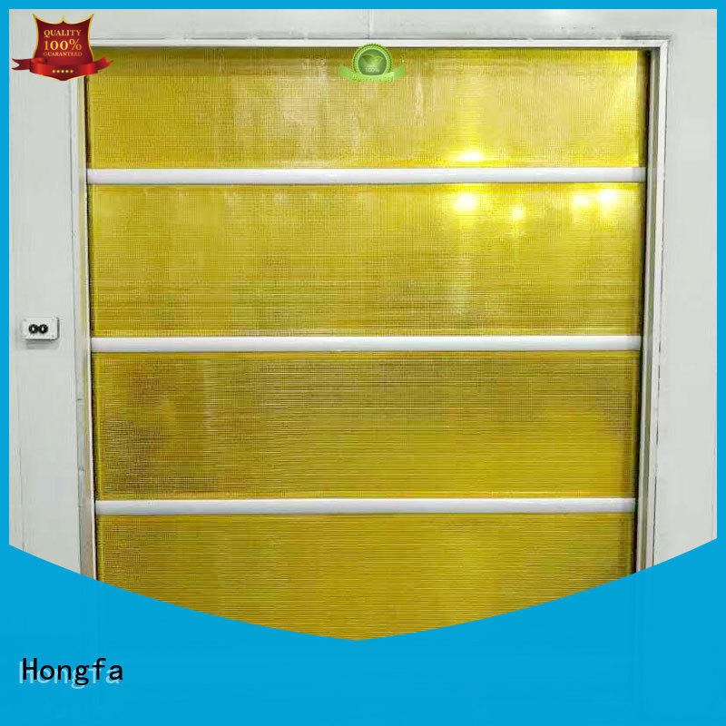 Hongfa clear roll up high speed door widely-use for storage