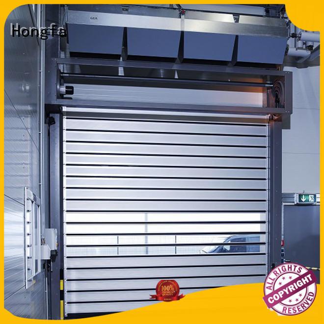 Quality Hongfa Brand electric roll up door door spiral