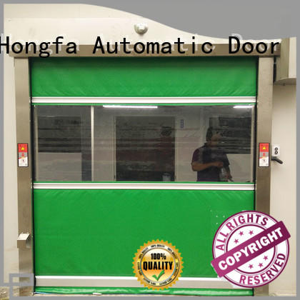 Hongfa high-quality automatic roll up door widely-use for food chemistry textile electronics supemarket refrigeration logistics