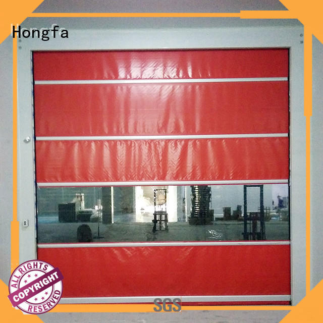 Hongfa rapid roll up doors interior widely-use for warehousing