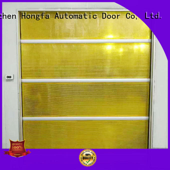 Hongfa efficient high speed shutter door in different color for supermarket