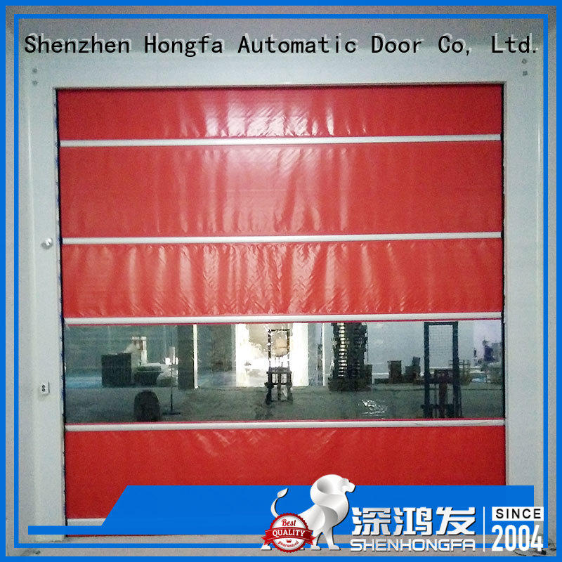 Hongfa high-tech rapid roll up door supplier for food chemistry textile electronics supemarket refrigeration logistics