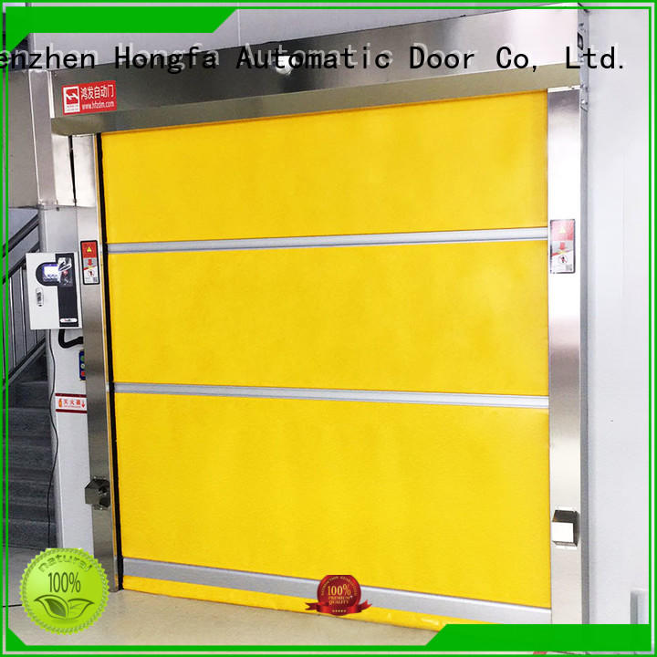 Hongfa high-speed high speed roll up doors remote for warehousing