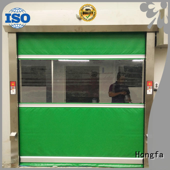 Hongfa high speed shutter door overseas market for food chemistry textile electronics supemarket refrigeration logistics