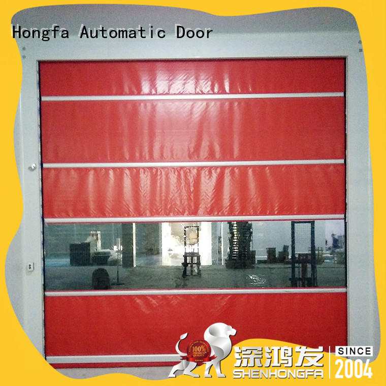 Hongfa automatic small roll up doors factory price for storage
