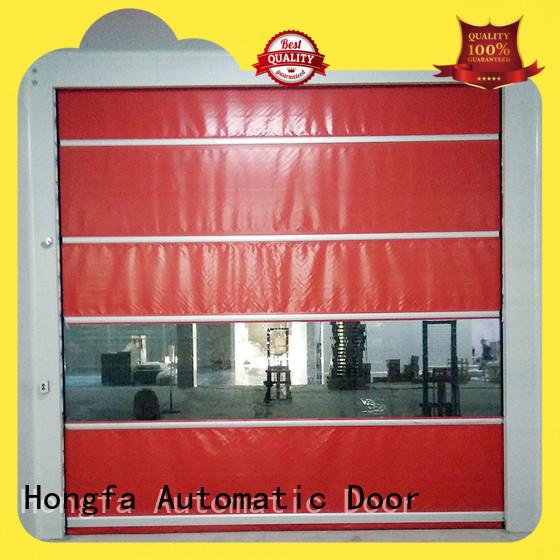 Hongfa speed industrial garage doors overseas market for factory