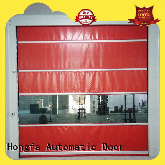 fast high speed fabric doors widely-use for supermarket Hongfa
