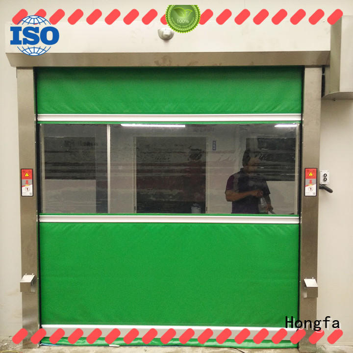 Hongfa performance pvc high speed door newly for factory