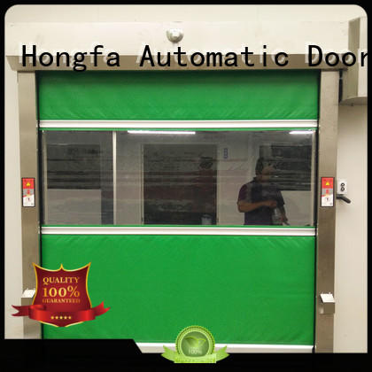 Hongfa speed PVC fast door factory price for supermarket