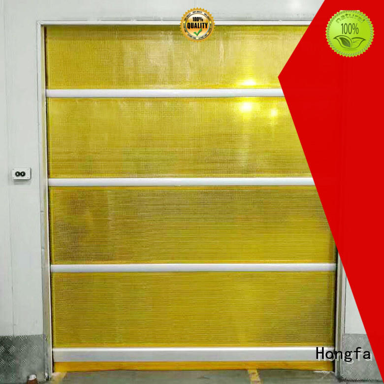 Hongfa automatic fabric roll up doors in china for food chemistry textile electronics supemarket refrigeration logistics