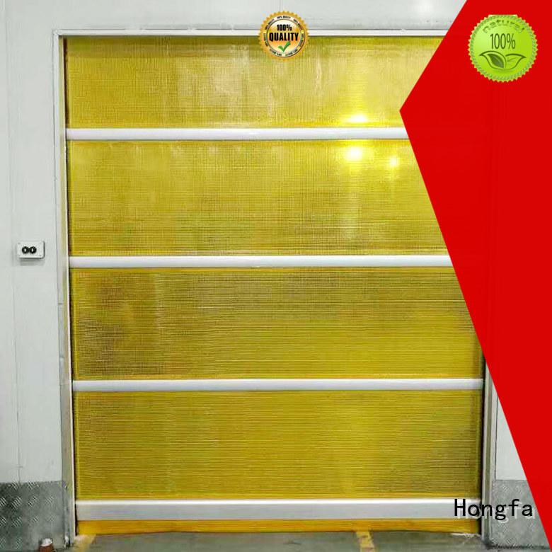 Hongfa fast high speed roller shutter doors overseas market for warehousing