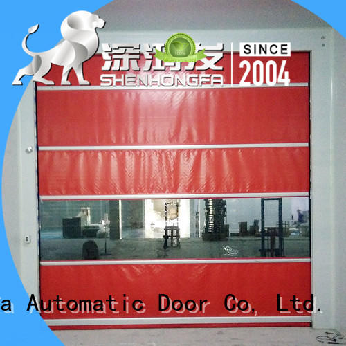 Hongfa remote roll up door in different color for food chemistry textile electronics supemarket refrigeration logistics