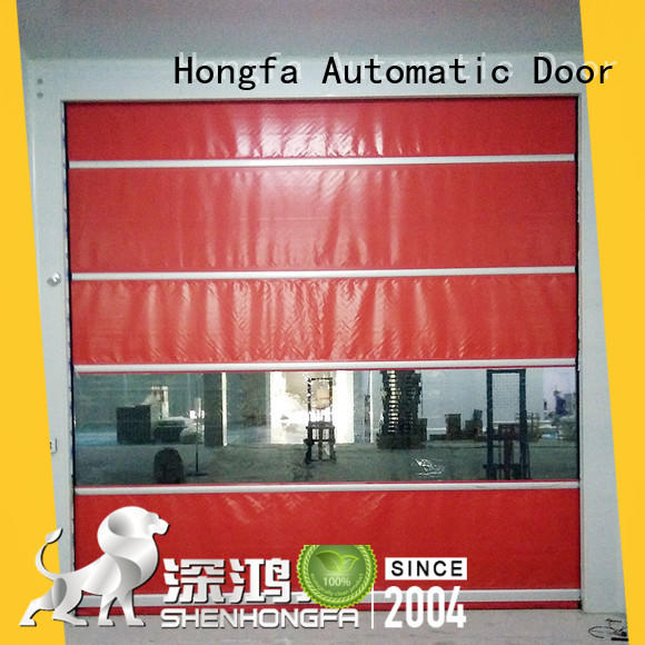 efficient high speed industrial doors widely-use for warehousing Hongfa
