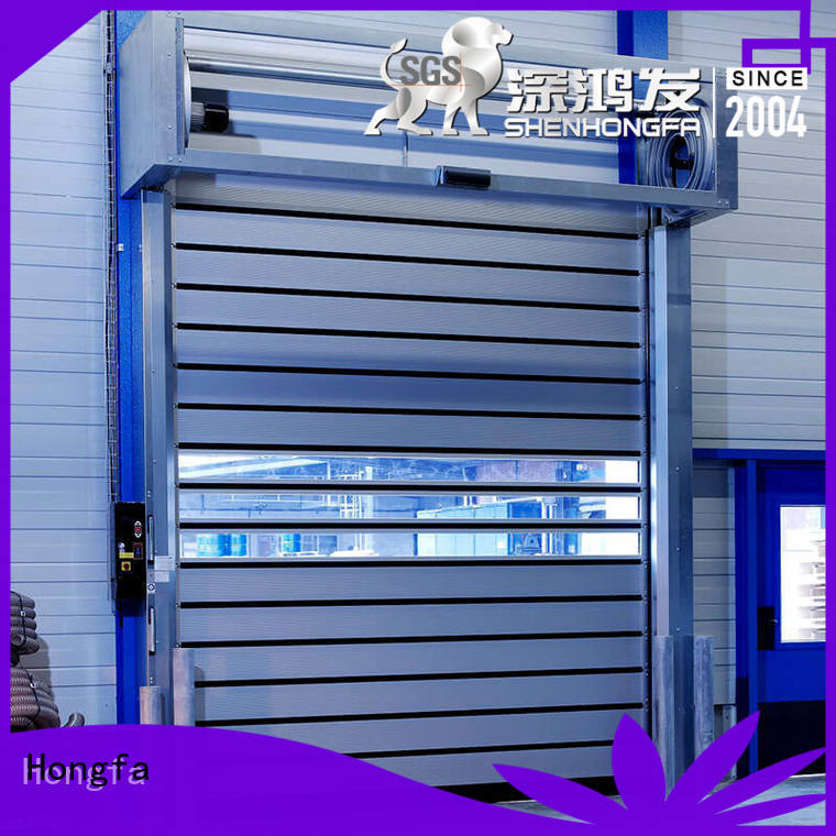 Hongfa automatic electric roll up door fast for industrial warehouse