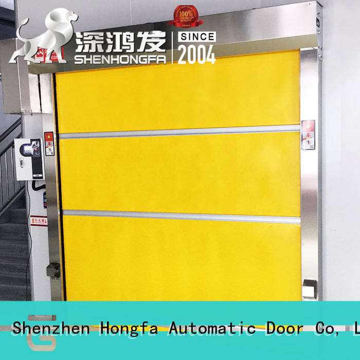 Hongfa industrial roll up high speed door supplier for warehousing