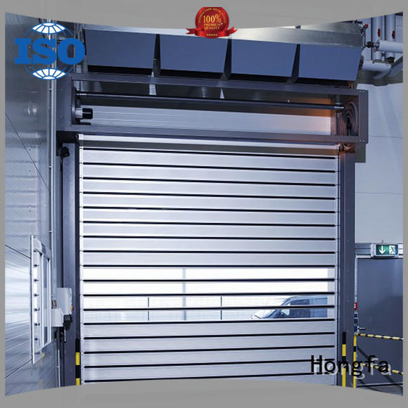 Hongfa fashion design electric roll up door door for parking lot