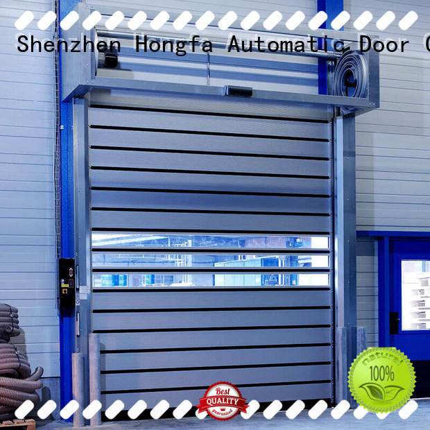 Hongfa fast spiral fast door from china for cold room